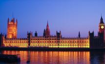 Houses of Parlament zur Blauen Stunde